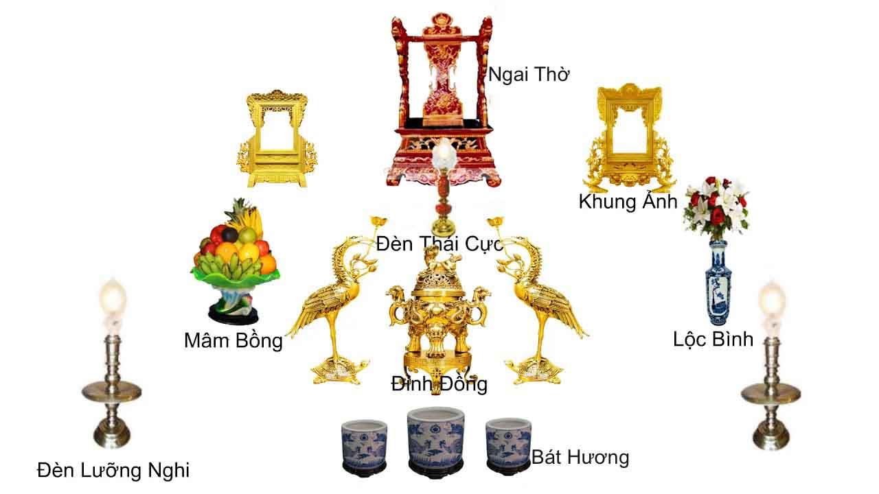 Hướng dẫn các sắp xếp bàn thờ gia tiên sao cho đúng chuẩn